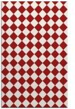 rug #235137 |  red check rug
