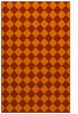 rug #235145 |  red-orange check rug