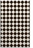 rug #235185 |  brown check rug