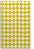 rug #235189 |  yellow check rug