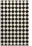 rug #235197 |  black check rug