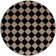 rug #235253 | round beige check rug