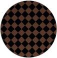 rug #235257 | round brown check rug