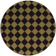 rug #235261 | round brown check rug