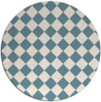 rug #235265 | round blue-green check rug