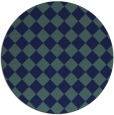 rug #235273 | round blue-green check rug