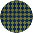 rug #235277 | round blue check rug