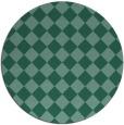rug #235297 | round blue-green check rug