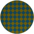 rug #235301 | round blue-green check rug