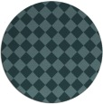 rug #235313 | round blue-green check rug