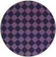 rug #235337 | round purple check rug