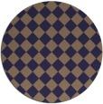 rug #235349 | round beige check rug