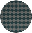 rug #235369 | round blue-green check rug