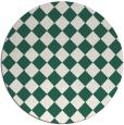 rug #235373 | round green check rug