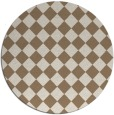 rug #235393 | round beige check rug