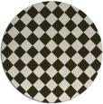 rug #235418   round check rug