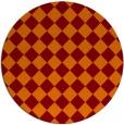 rug #235429 | round red-orange check rug