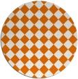 rug #235433 | round orange retro rug