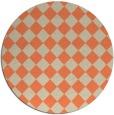 rug #235437 | round orange check rug