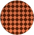 rug #235441 | round red-orange check rug