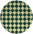 rug #235445 | round yellow check rug