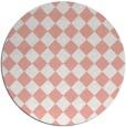 rug #235461 | round white check rug