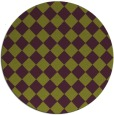 rug #235469 | round green check rug