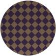 rug #235473 | round purple check rug