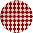 rug #235481 | round red check rug