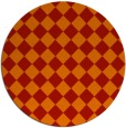 rug #235485 | round red check rug