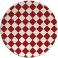 rug #235489 | round red check rug