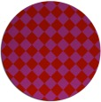 rug #235493 | round red check rug
