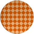 rug #235501 | round red-orange check rug
