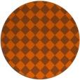 rug #235505 | round red-orange check rug