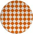 rug #235509 | round red-orange check rug