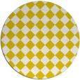 rug #235517 | round white check rug