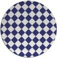rug #235521 | round blue check rug