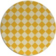 rug #235529 | round yellow check rug