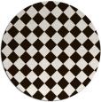 rug #235537 | round brown check rug