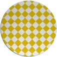 rug #235541 | round yellow check rug