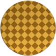 rug #235545 | round yellow check rug
