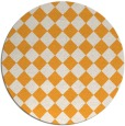 rug #235589 | round light-orange check rug