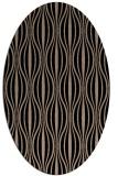 rug #236309 | oval black retro rug
