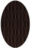 rug #236313 | oval black stripes rug