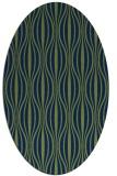 rug #236333 | oval blue retro rug