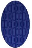 rug #236401 | oval blue-violet stripes rug