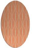 rug #236493 | oval beige stripes rug