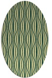 rug #236501 | oval yellow retro rug