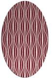 rug #236509   oval pink retro rug