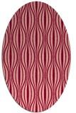 rug #236516 | oval retro rug